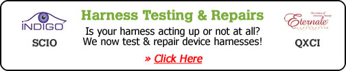 Harness Testing & Repair: Is your harness acting up or not at all? We now test and repair device harnesses! Click here